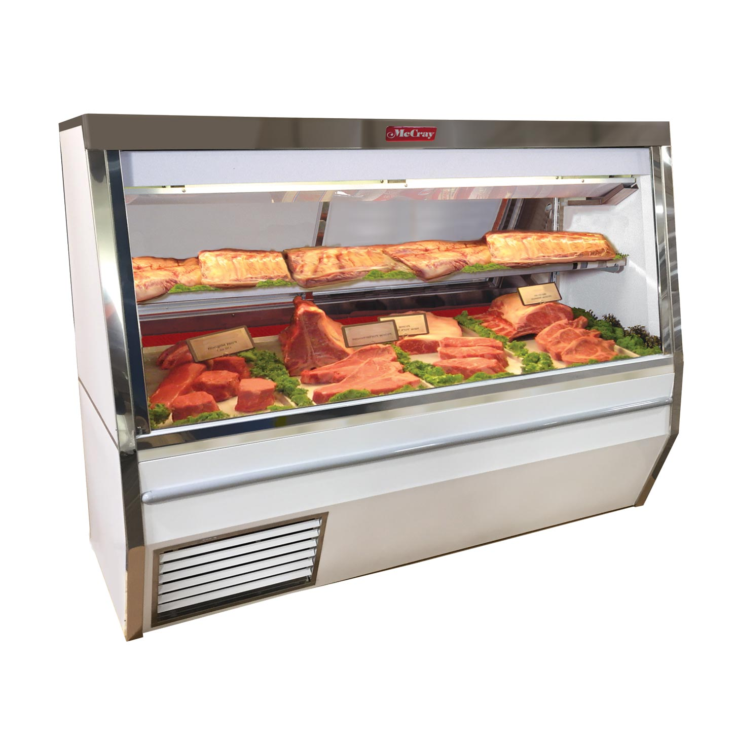 Howard-McCray R-CMS34N-8-BE-LED display case, red meat deli