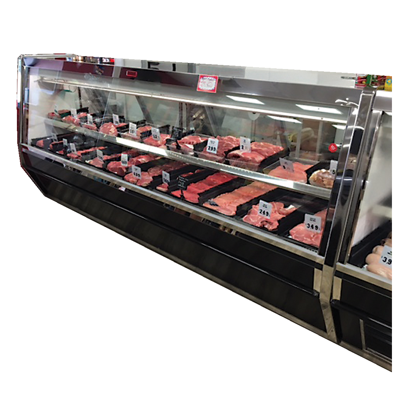 Howard-McCray R-CMS40E-8-BE-LED display case, red meat deli