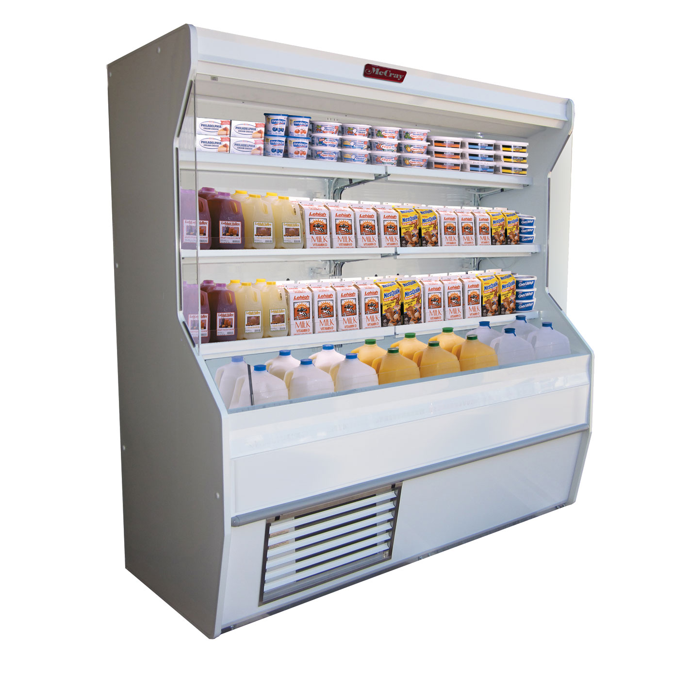 Howard-McCray R-D32E-3-S-LED merchandiser, open refrigerated display