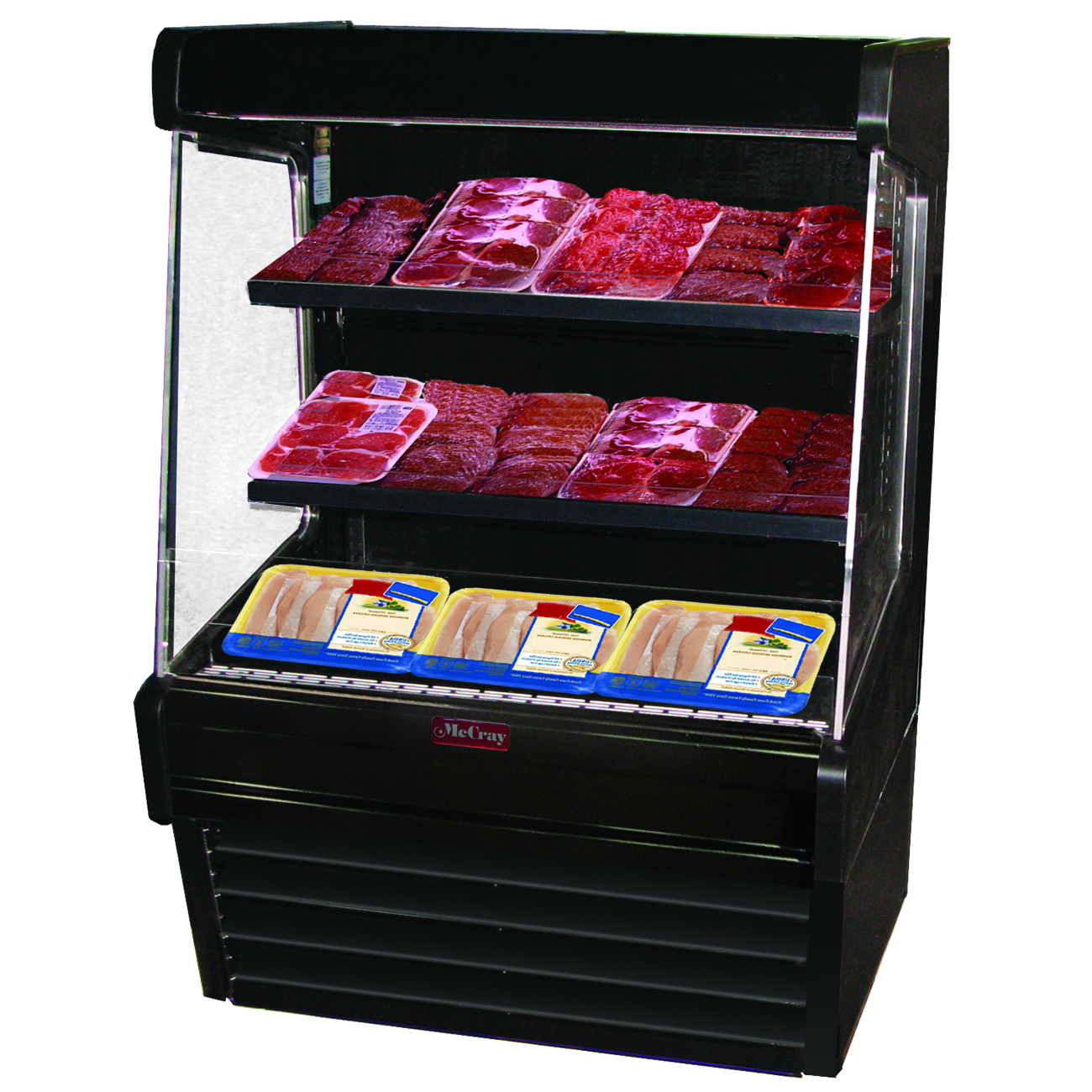 Howard-McCray R-OM30E-6L-B-LED merchandiser, open refrigerated display