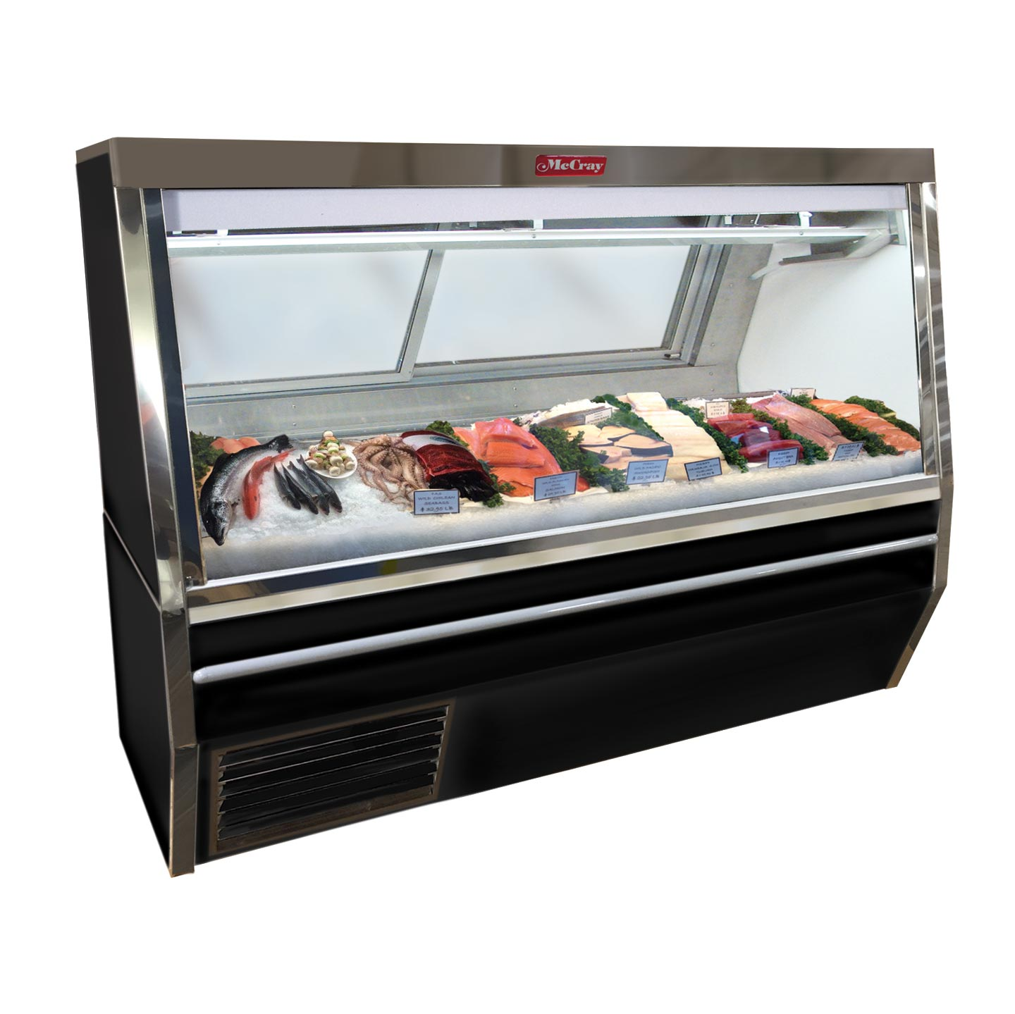 Howard-McCray SC-CFS34N-4-BE-LED display case, deli seafood / poultry