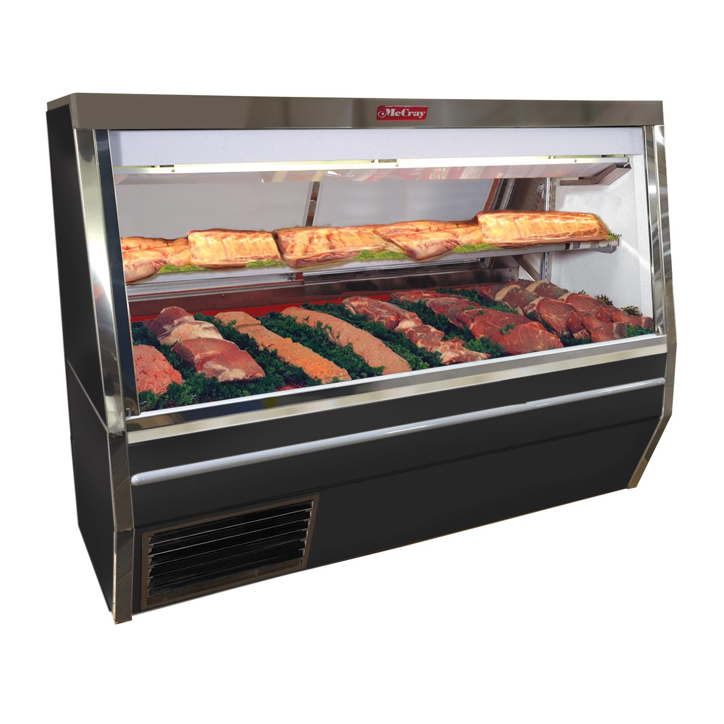 Howard-McCray SC-CMS34N-4-BE-LED display case, red meat deli
