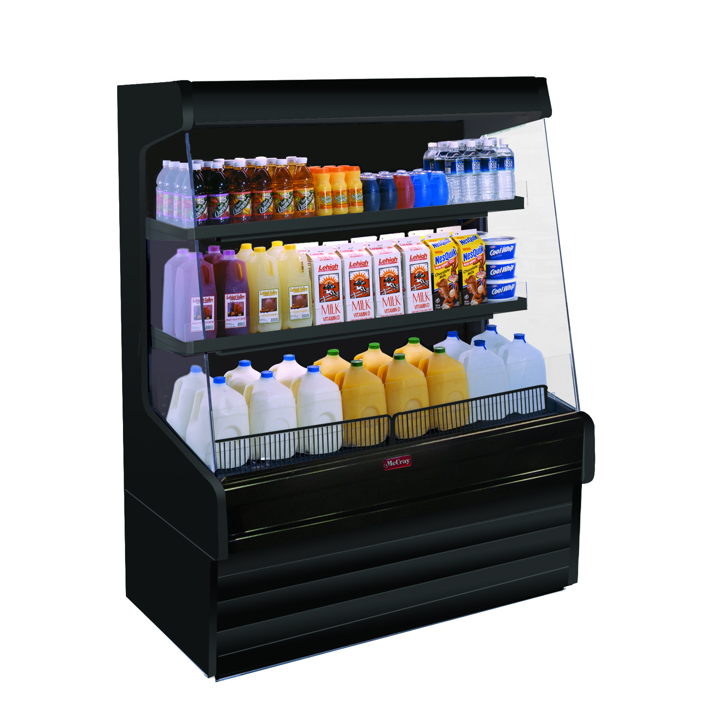 Howard-McCray SC-OD30E-8L-B-LED merchandiser, open refrigerated display