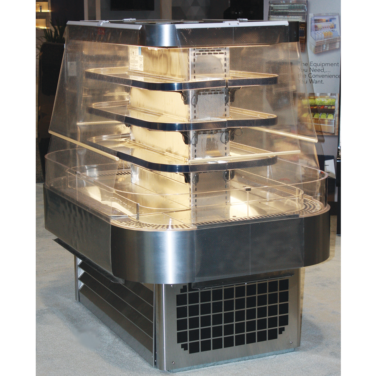 Howard-McCray SC-OD42I-5-B-LED merchandiser, open refrigerated display
