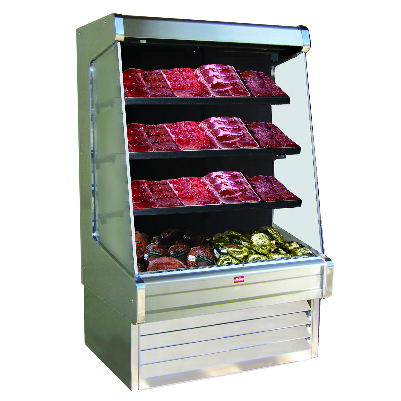 Howard-McCray SC-OM30E-6-S-LED merchandiser, open refrigerated display