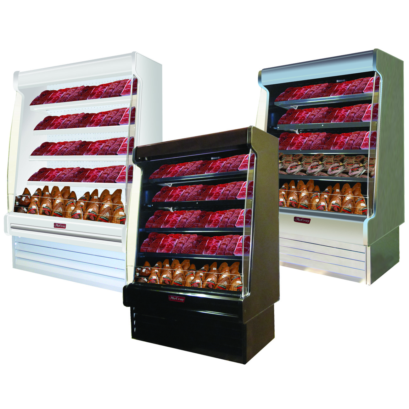 Howard-McCray SC-OM35E-4S-S-LED merchandiser, open refrigerated display
