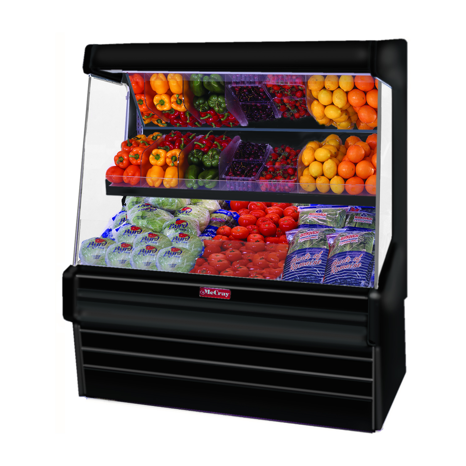 Howard-McCray SC-OP30E-4L-B-LED display case, produce