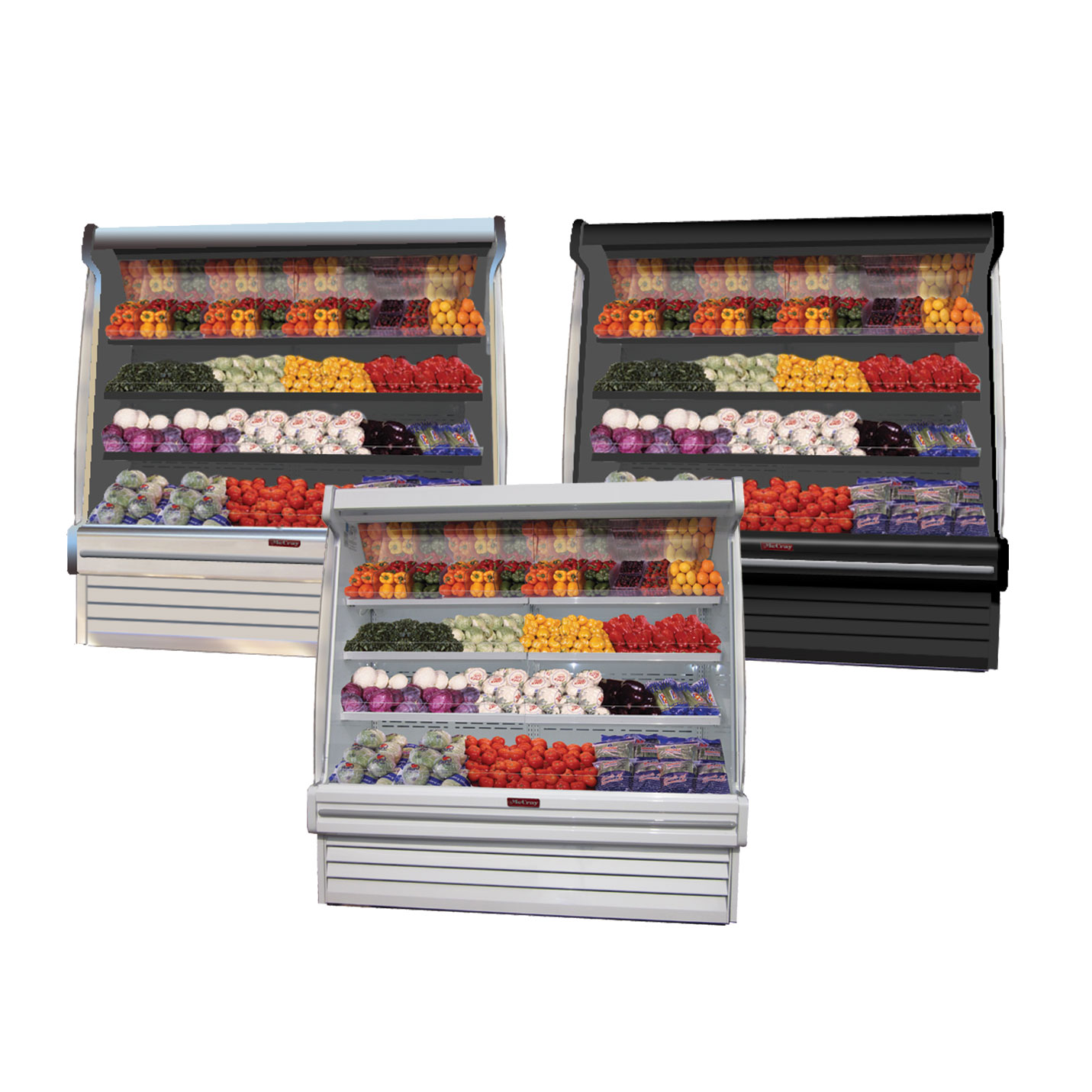 Howard-McCray SC-OP35E-3S-B-LED display case, produce