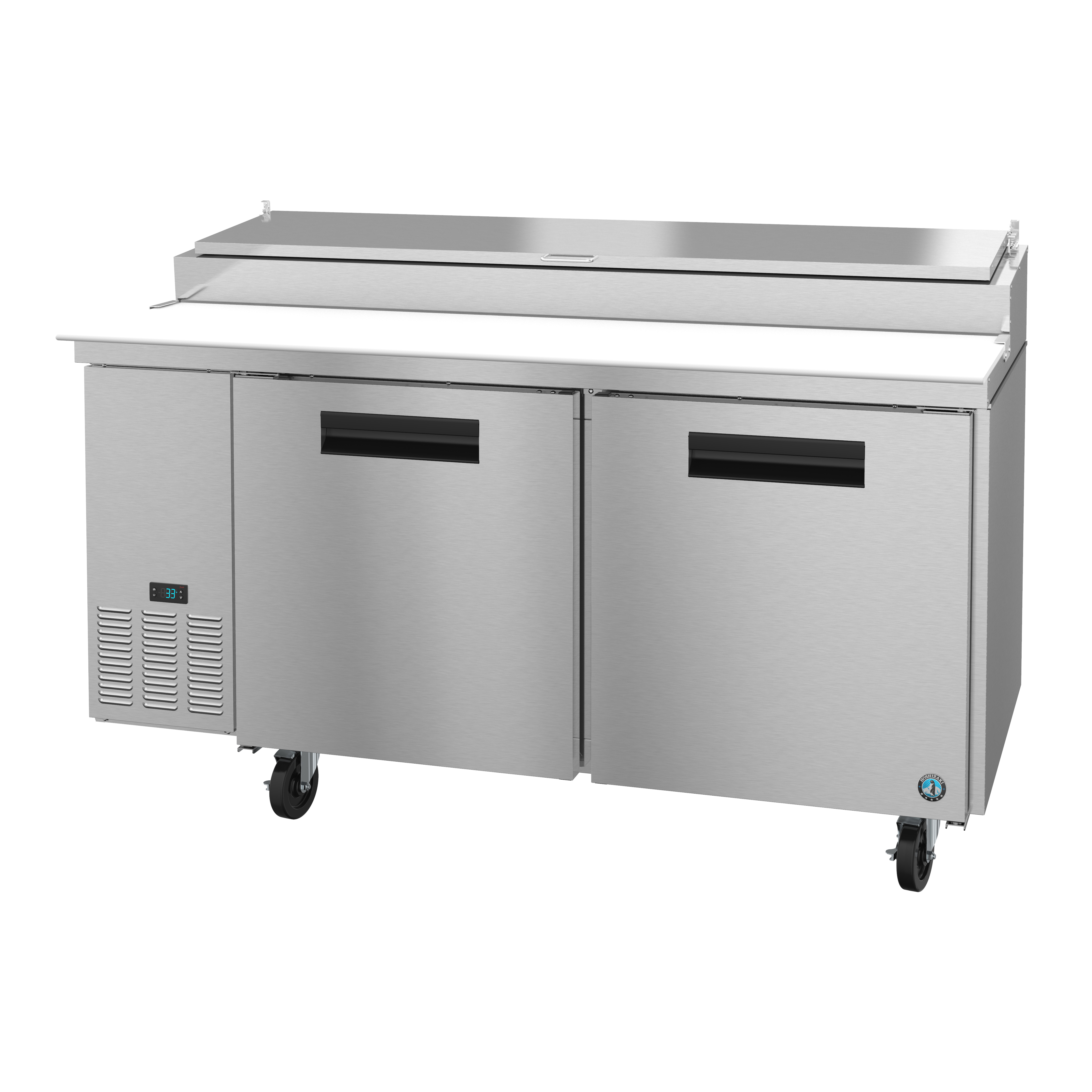 Hoshizaki PR67A refrigerated counter, pizza prep table