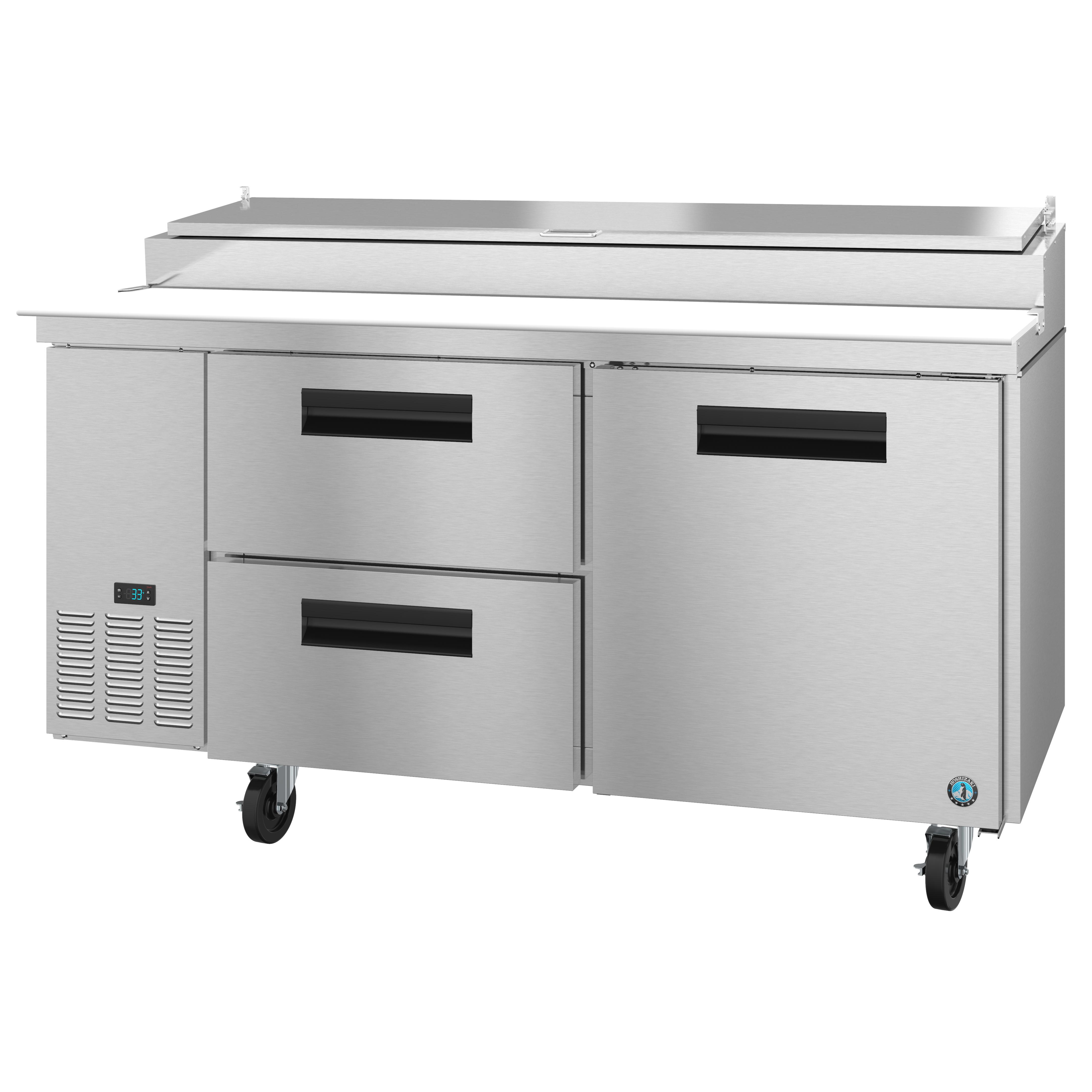 Hoshizaki PR67A-D2 refrigerated counter, pizza prep table