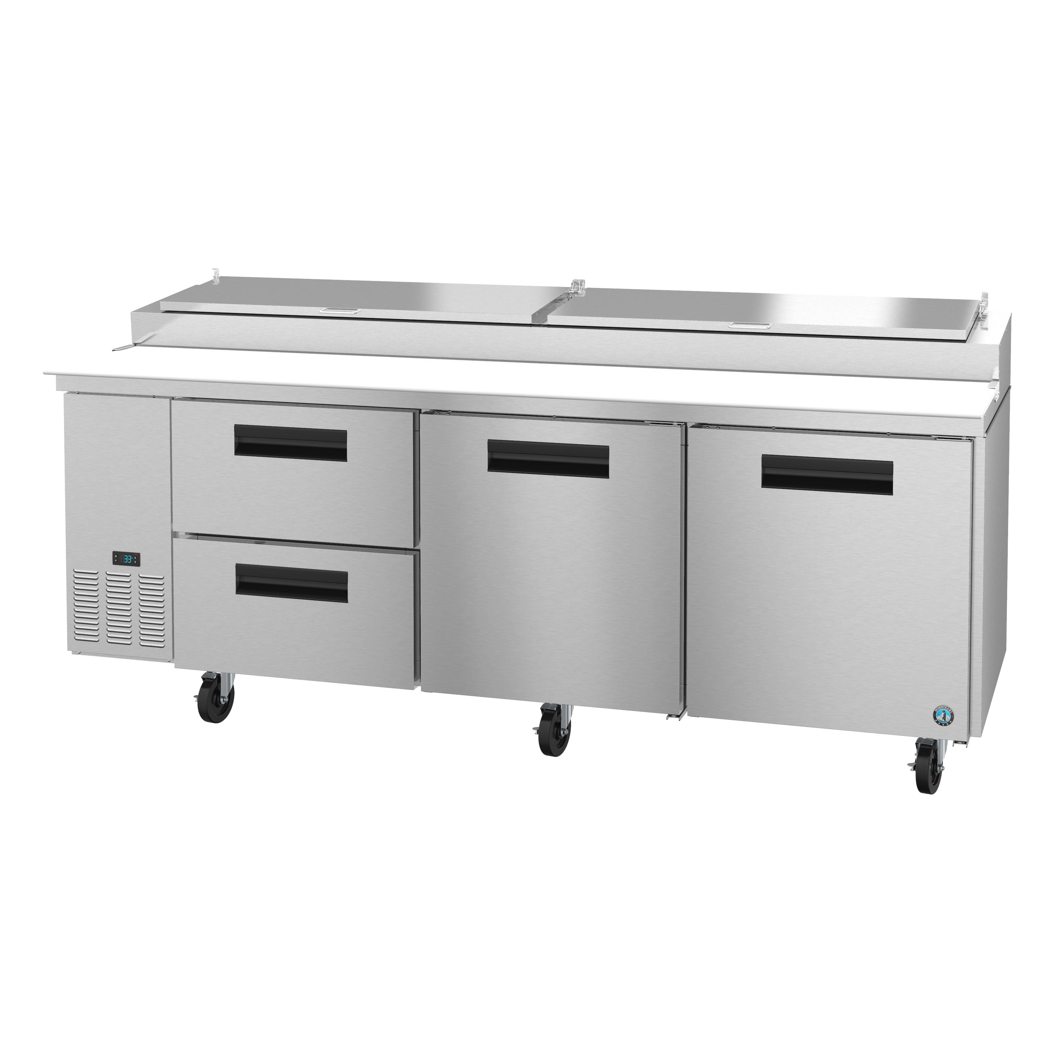 Hoshizaki PR93A-D2 refrigerated counter, pizza prep table