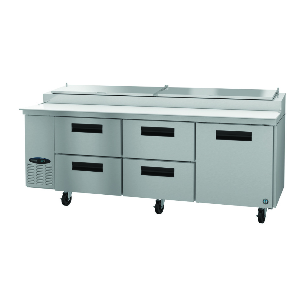 Hoshizaki PR93A-D4 refrigerated counter, pizza prep table