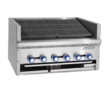 Imperial IABR-72 charbroiler, gas, countertop