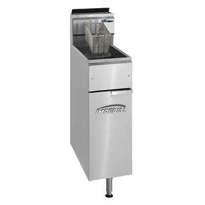 Imperial IFS-25 fryer, gas, floor model, full pot