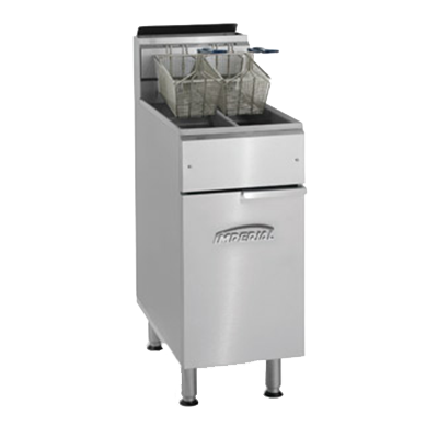 Imperial IFS-2525 fryer, gas, floor model, split pot