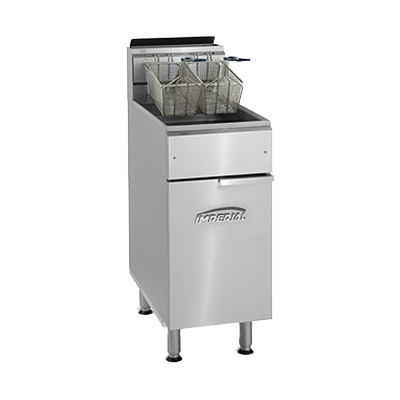 Imperial IFS-40 fryer, gas, floor model, full pot