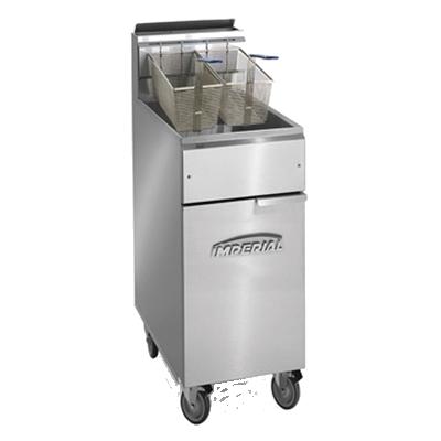 Imperial IFS-40-OP fryer, gas, floor model, full pot