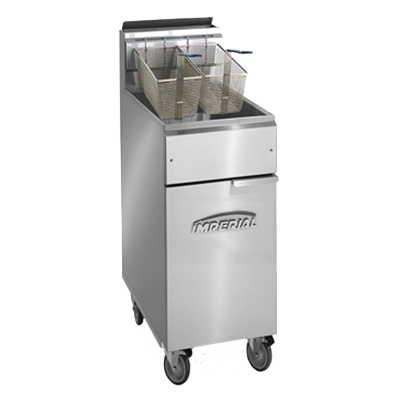 Imperial IFS-50-OP fryer, gas, floor model, full pot
