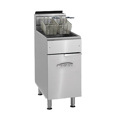 Imperial IFS-75 fryer, gas, floor model, full pot