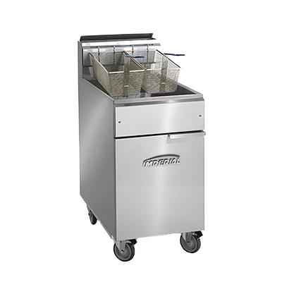 Imperial IFS-75-OP fryer, gas, floor model, full pot