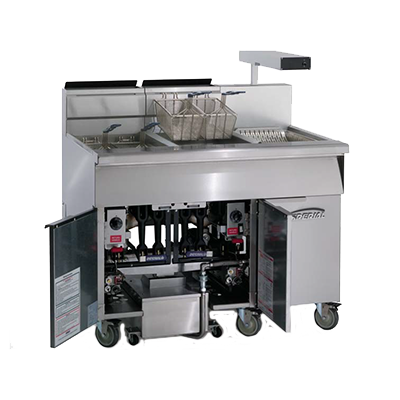 Imperial IFSCB-150 fryer, gas, floor model, full pot
