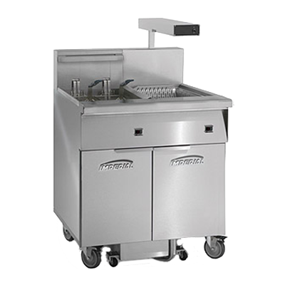 Imperial IFSCB150E fryer, electric, floor model, full pot