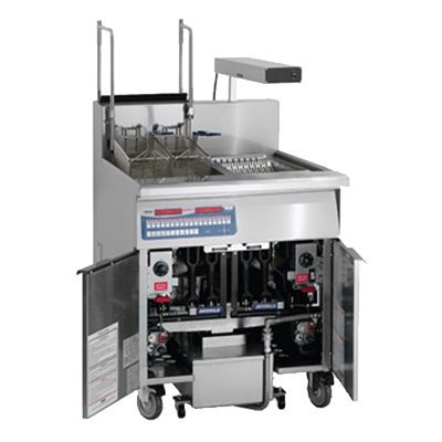 Imperial IFSCB-150-OP fryer, gas, floor model, full pot