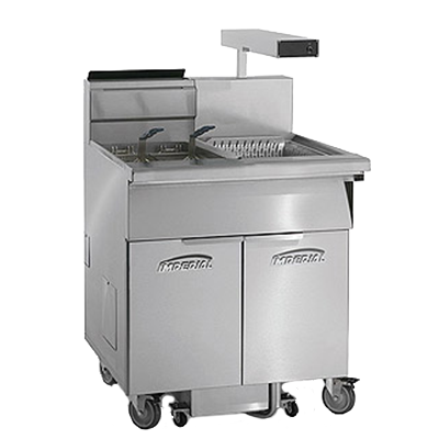 Imperial IFSCB-175-OP fryer, gas, floor model, full pot