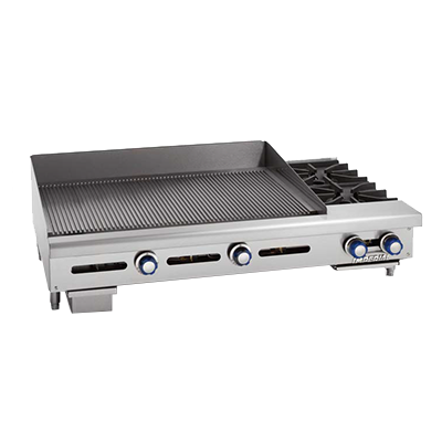 Imperial IGG-36-OB-2 griddle / hotplate, gas, countertop