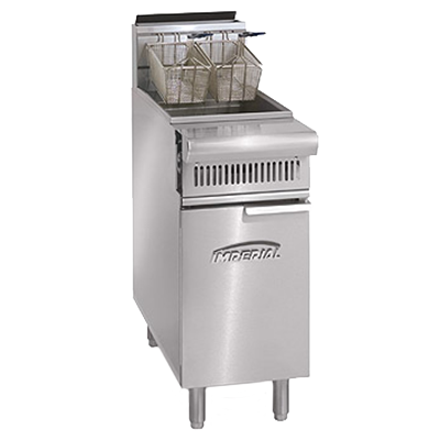 Imperial IHR-F50 fryer, gas, floor model, full pot