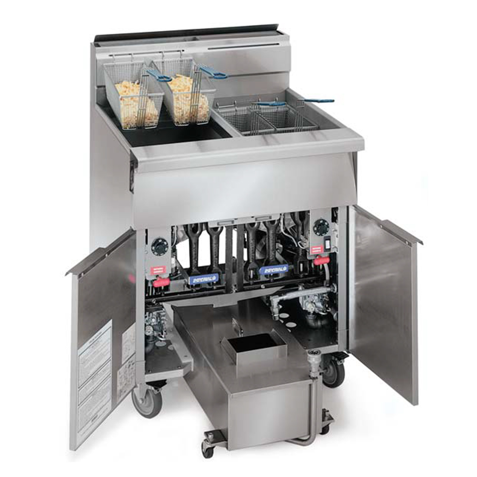 Imperial IHRSP475 fryer, gas, multiple battery