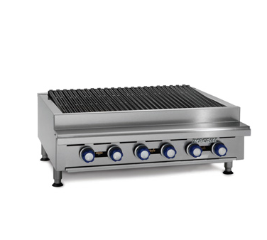 Imperial IRB-36 charbroiler, gas, countertop