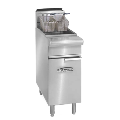 Imperial IRF-50 fryer, gas, floor model, full pot