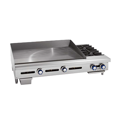 Imperial ITG-72-OB-2 griddle / hotplate, gas, countertop