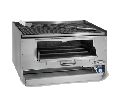 Imperial MSQ-48 charbroiler, wood burning