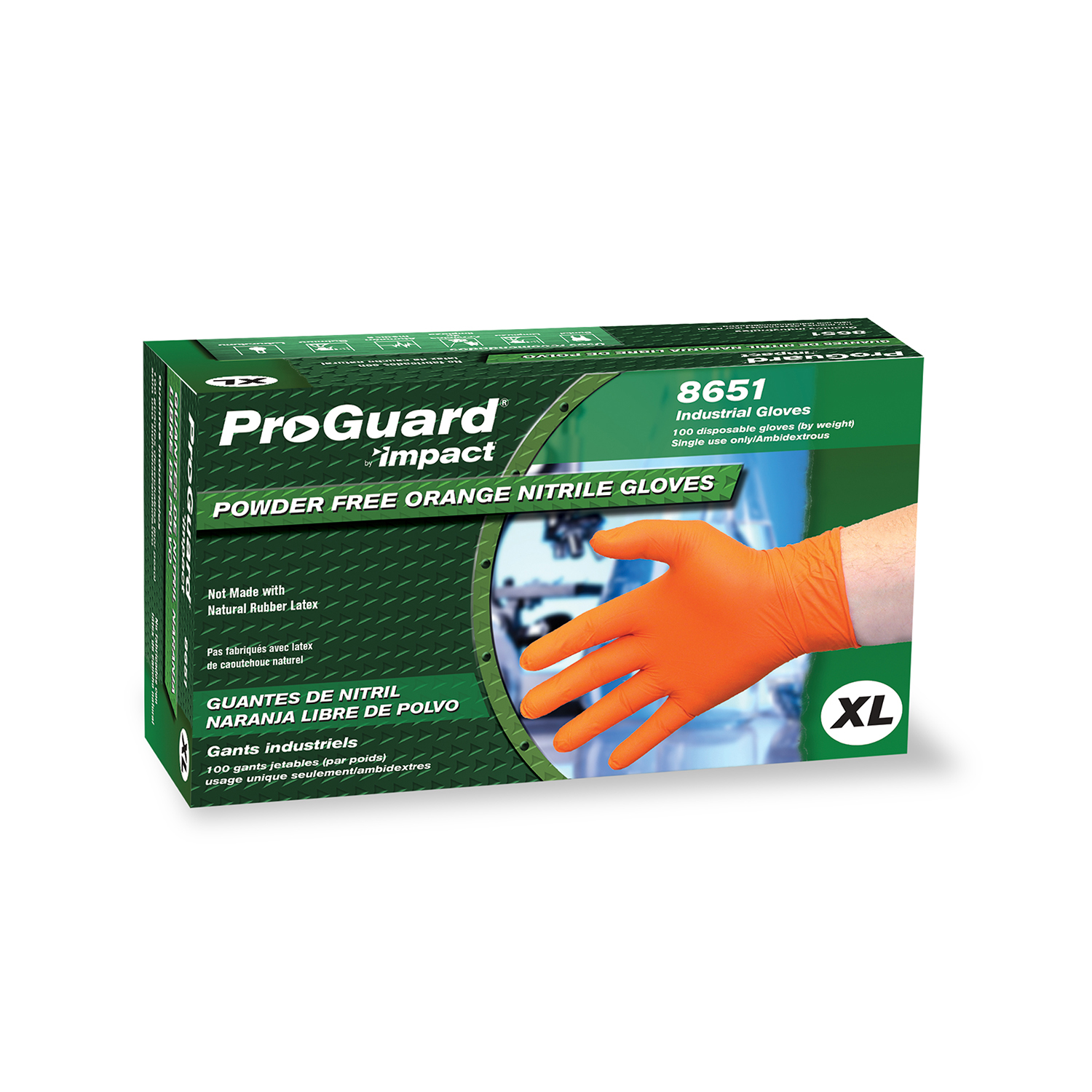Impact Products 8651XL disposable gloves