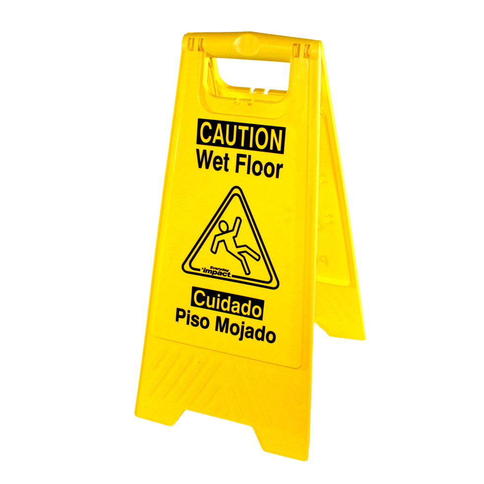 Impact Products 9152W sign, wet floor