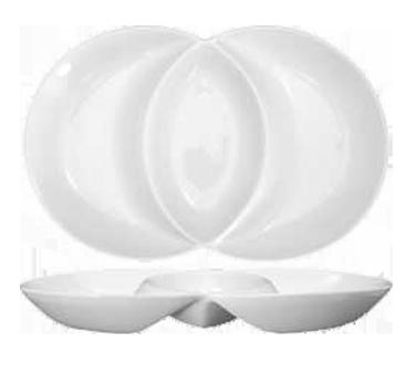 International Tableware FA2-14 plate/platter, compartment, china