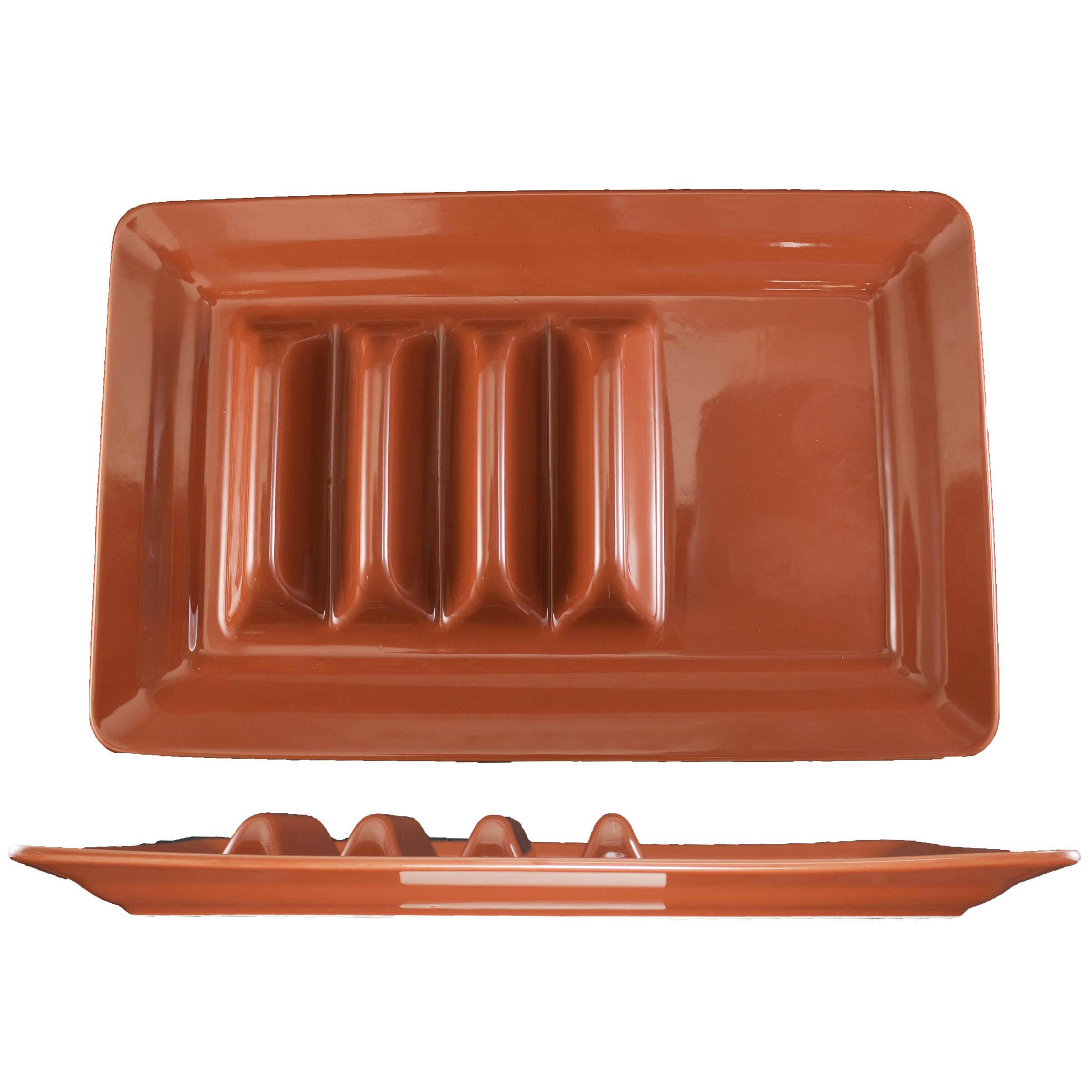 International Tableware TACO-14-R taco prep / hot dog tray