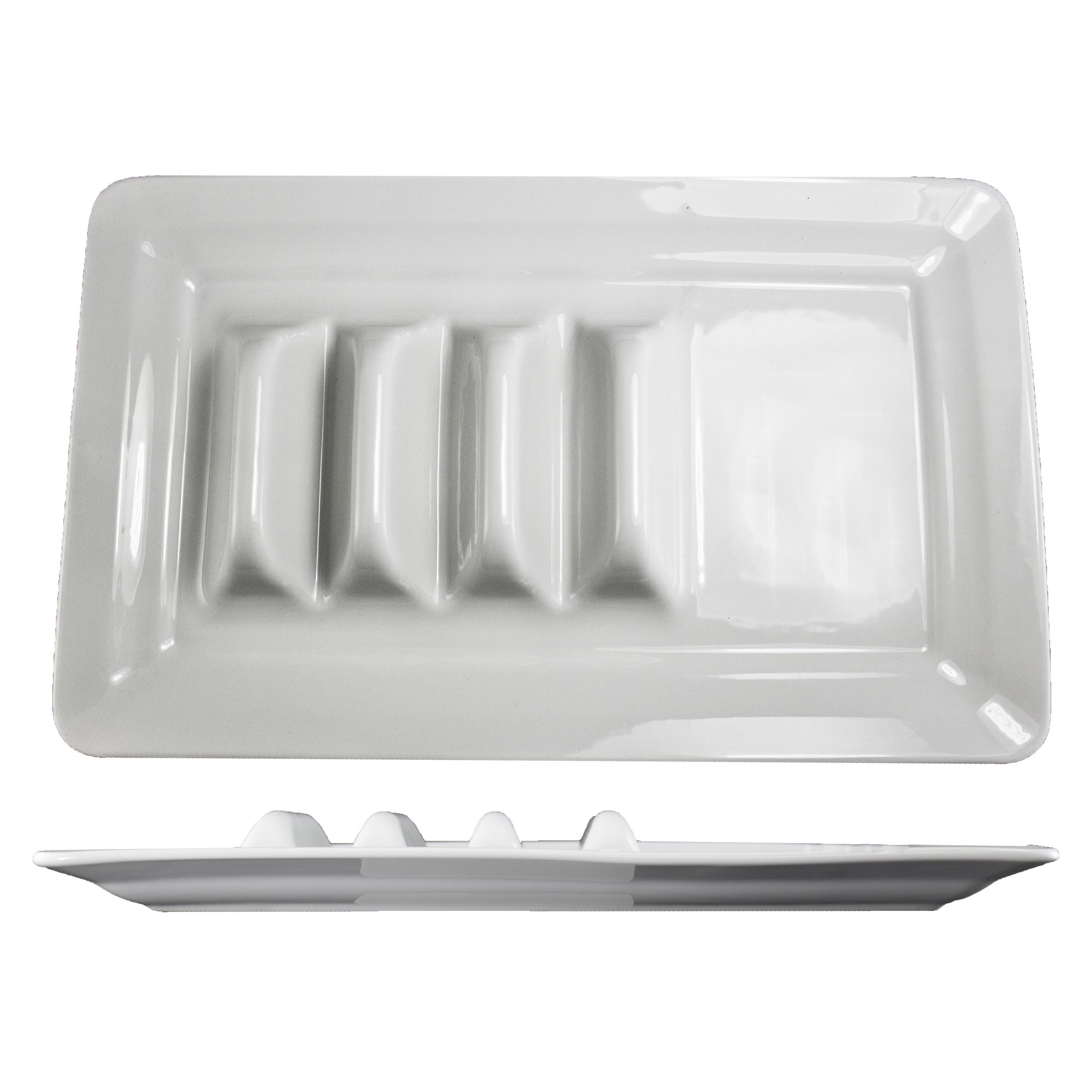 International Tableware TACO-14-W taco prep / hot dog tray