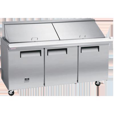 Kelvinator Commercial KCMT70.30-HC refrigerated counter, mega top sandwich / salad unit