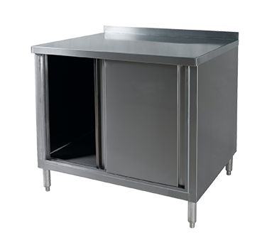 Klinger's Trading BCB-3060 work table, cabinet base sliding doors