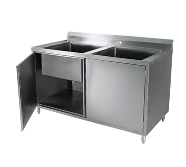 Klinger's Trading CAB-3060 sink, (2) two compartment