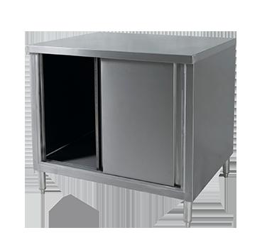 Klinger's Trading CB-3048 work table, cabinet base sliding doors