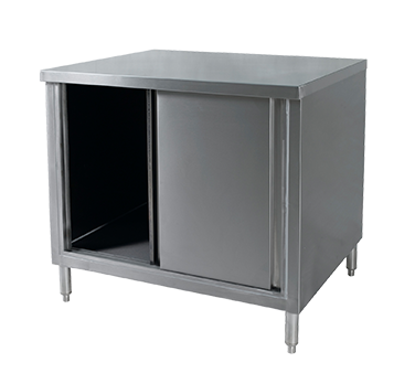 Klinger's Trading CBM-3048 work table, cabinet base sliding doors