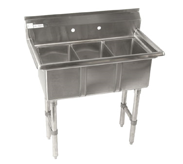 Klinger's Trading CON3 sink, (3) three compartment
