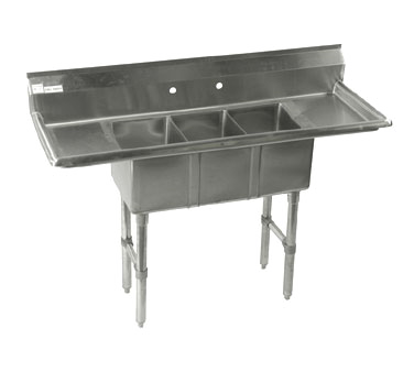 Klinger's Trading CON32D sink, (3) three compartment