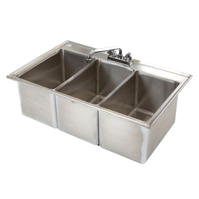 Klinger's Trading DBS-3 underbar sink, drop-in
