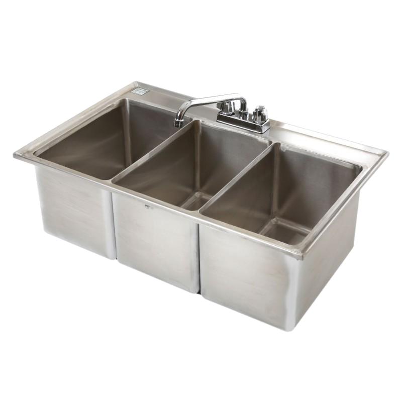 Klinger's Trading DBS-3-2D underbar sink, drop-in