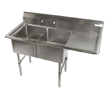 Klinger's Trading ECS2DR sink, (2) two compartment